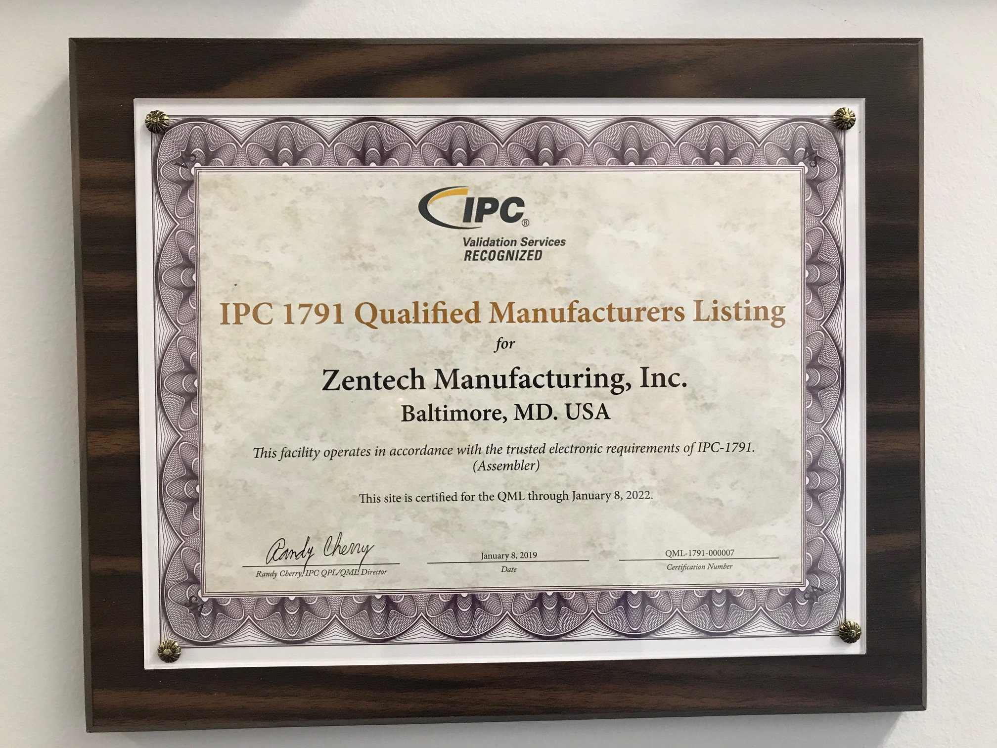 Zentech Earns Ipc 1791 Certification Trusted Assembler